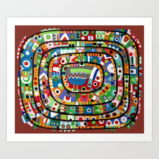 Planet of all good people Art Print