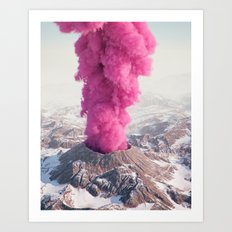 Pink Eruption Art Print