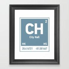 City Hall Element Framed Art Print
