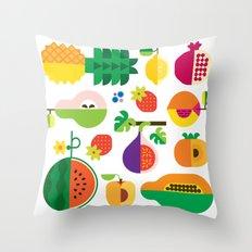 Fruit Medley White Throw Pillow