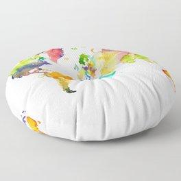 Watercolor World Floor Pillow