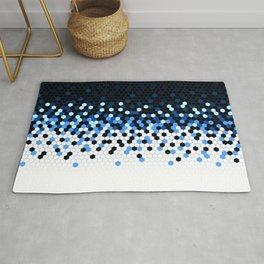 Flat Tech Camouflage Reverse Blue Rug