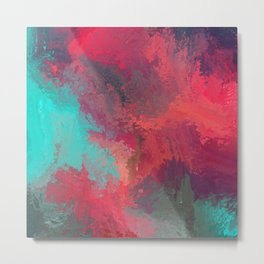 Passionate Firestorm Abstract Painting Metal Print