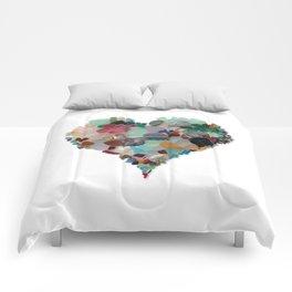 Love - Original Sea Glass Heart Comforters