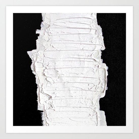 Black, White & White Art Print
