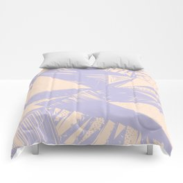 Modern lilac ivory violet geometrical shapes patterns Comforters