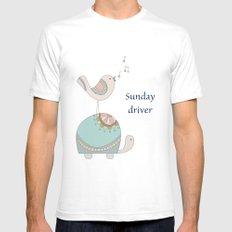 Sunday Driver SMALL Mens Fitted Tee White