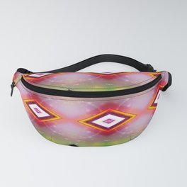 Triangles and Bubbles Pattern Fanny Pack