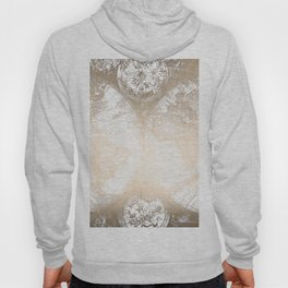 Antique White Gold World Map Hoody