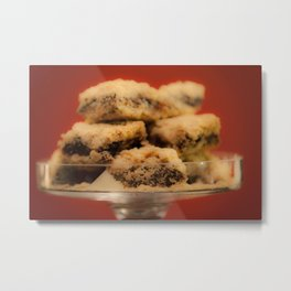 Date Squares as Food for Tought Metal Print