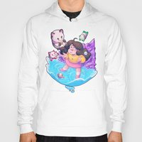 bee and puppycat Hoodies featuring Bee and Puppycat- Dream by merrigel