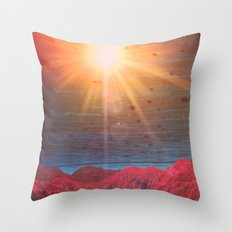 The Land of Fire (Night) Throw Pillow