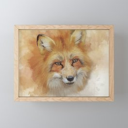 The Red Fox Framed Mini Art Print
