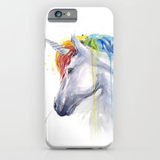 Rainbow Unicorn Watercolor Animal Magical Whimsical Animals iPhone 6 Slim Case