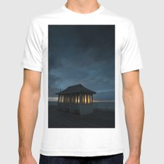 Cromer Pier Shelter at Dawn Mens Fitted Tee White MEDIUM
