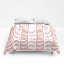 Wavy Stripes Dusty Rose Comforters