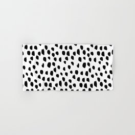 Hand drawn drops and dots on white - Mix & Match with Simplicty of life Hand & Bath Towel