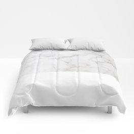 Modern pastel gray white elegant chic marble Comforters