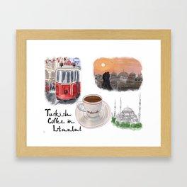 Turkish Coffee in Istanbul Framed Art Print