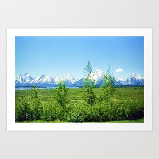Spring Tetons Art Print