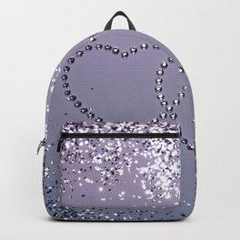Lavender Navy Blue Glitter Hearts #1 (Faux Glitter) #shiny #decor #art #society6 Backpack
