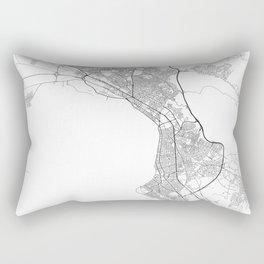 Minimal City Maps - Map Of Thessaloniki, Greece. Rectangular Pillow