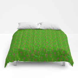 Positive Running Vibes on Green Comforters