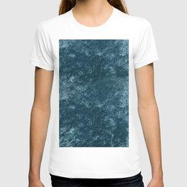 Peacock teal velvet T-shirt