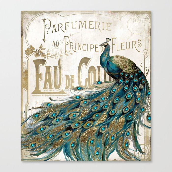 Peacock Jewels Leinwanddruck