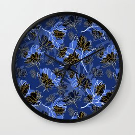 Cosmos Sillouette Wall Clock