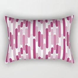 Modern Tabs in Rosy Pinks on White Rectangular Pillow