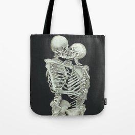 Valentine's Day: Skeleton Kiss Tote Bag
