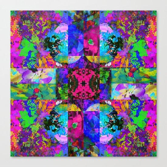 Floral Splatter Canvas Print