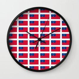 Flag of Samoa-Samoa,samoan,Tala,Savai'i,Upolu,Apia Wall Clock
