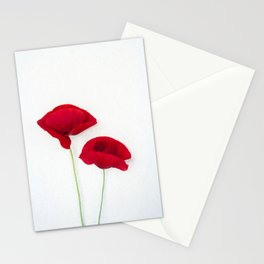 Two Red Poppies Stationery Cards