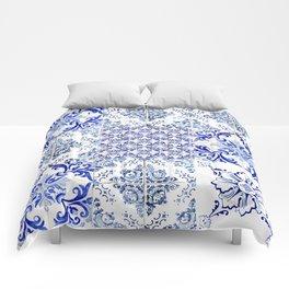 Azulejo VIII - Portuguese hand painted tiles Comforters