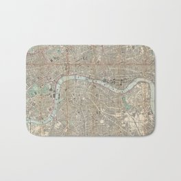 Vintage Map of London England (1862) Bath Mat
