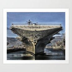 USS Hornet Art Print