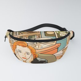 Dana Scully sit to the Fox Mulder's office Fanny Pack
