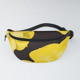 Large Yellow Succulent On Black Background #decor #society6 #buyart Fanny Pack