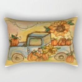 Quaker Hill Farm Pumpkin Truck Rectangular Pillow