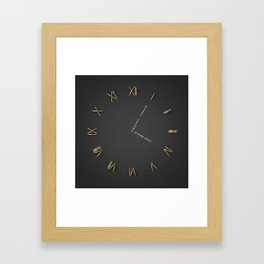 Time is Gold Framed Art Print