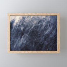 Blue Clouds, Blue Moon Framed Mini Art Print