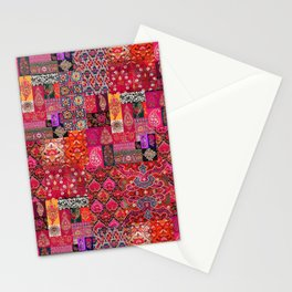 N98 - Traditional Heritage Boho Oriental Moroccan Collage Style. Stationery Cards