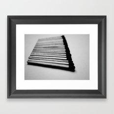 Matches Pattern #1 Framed Art Print
