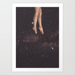 Hanging in space Art Print