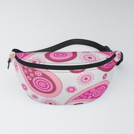 Oriental Persian Paisley, Flowers - Pink Fanny Pack