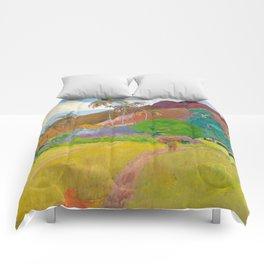 Tahitian Landscape by Paul Gauguin Comforters