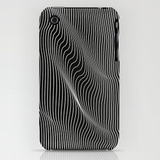 Minimal curves black Slim Case iPhone (3g, 3gs)