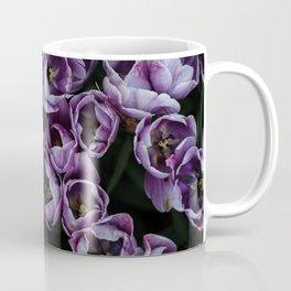 Purple tulip field | Flowers, floral, flower, nature, summer, botanical, plant, photo || Travel photography art print Coffee Mug